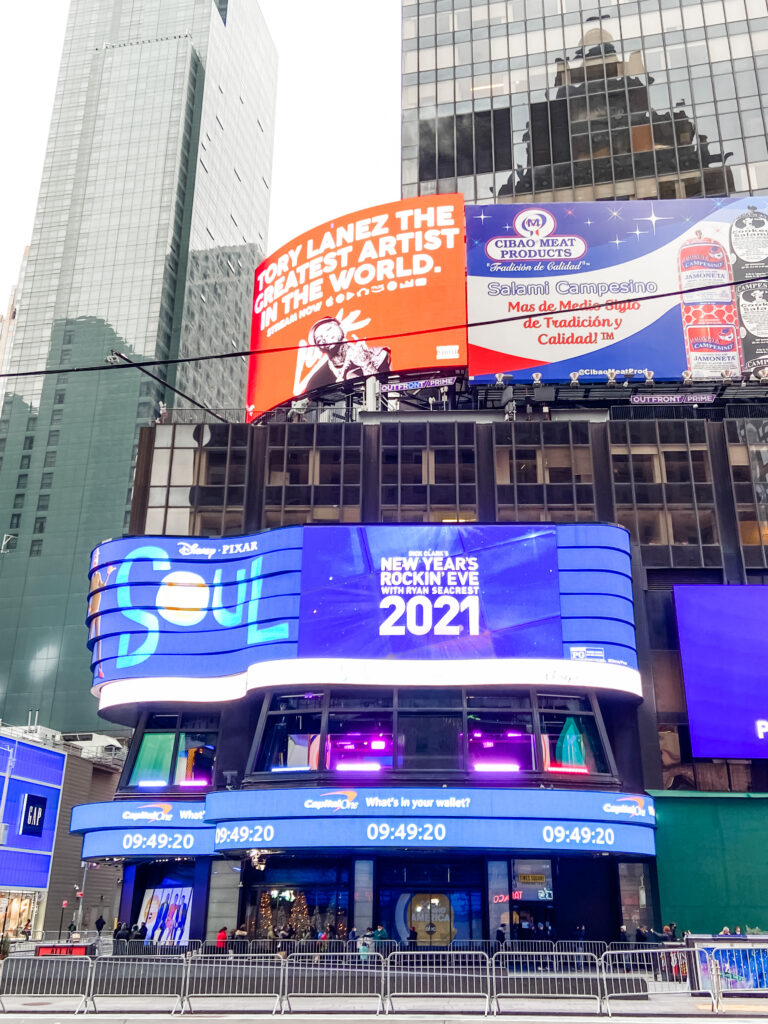 Times Square New Year 2021