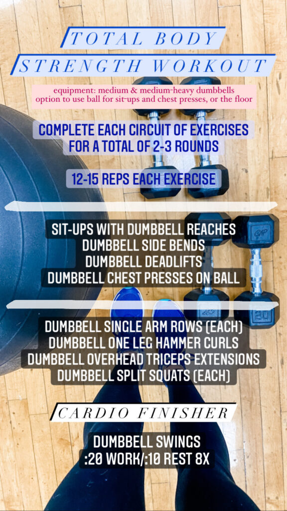 Total Body Strength Workout Dumbbells