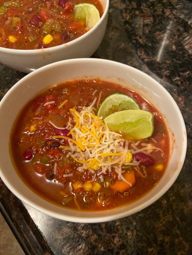 vegan chili quinoa recipe