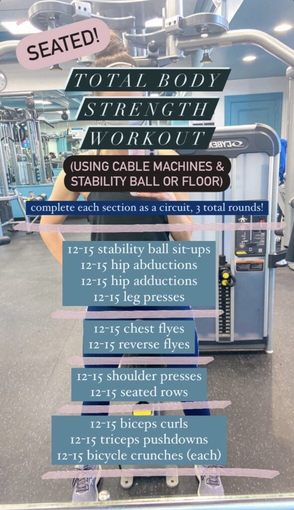 Seated Total Body Strength Workout with cable machines