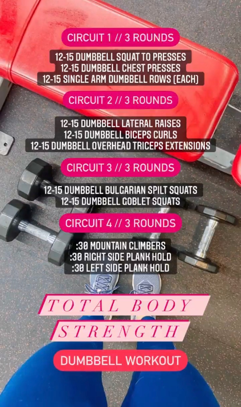 Total Body Strength Dumbbell Workout