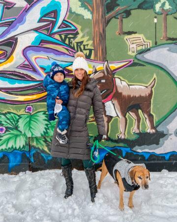 Winter 2021 with Skyler and Roadie