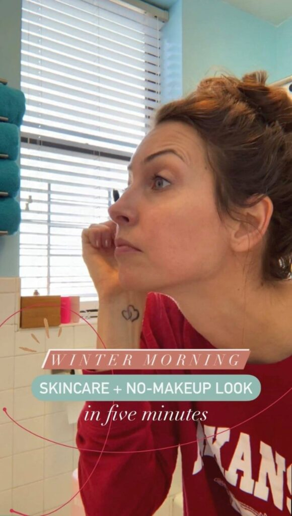 winter skincare and no-makeup look