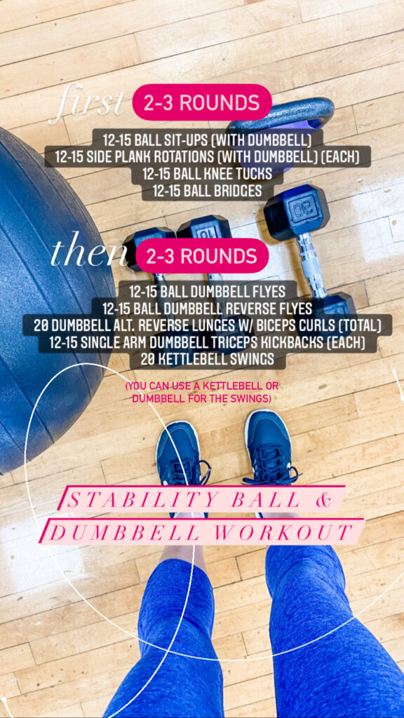 Stability Ball and Dumbbell Strength Workout