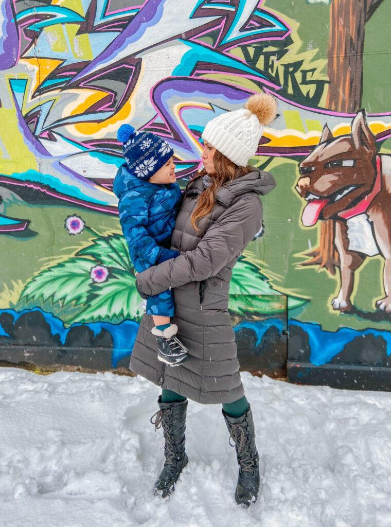 skyler and heather snowstorm 2021