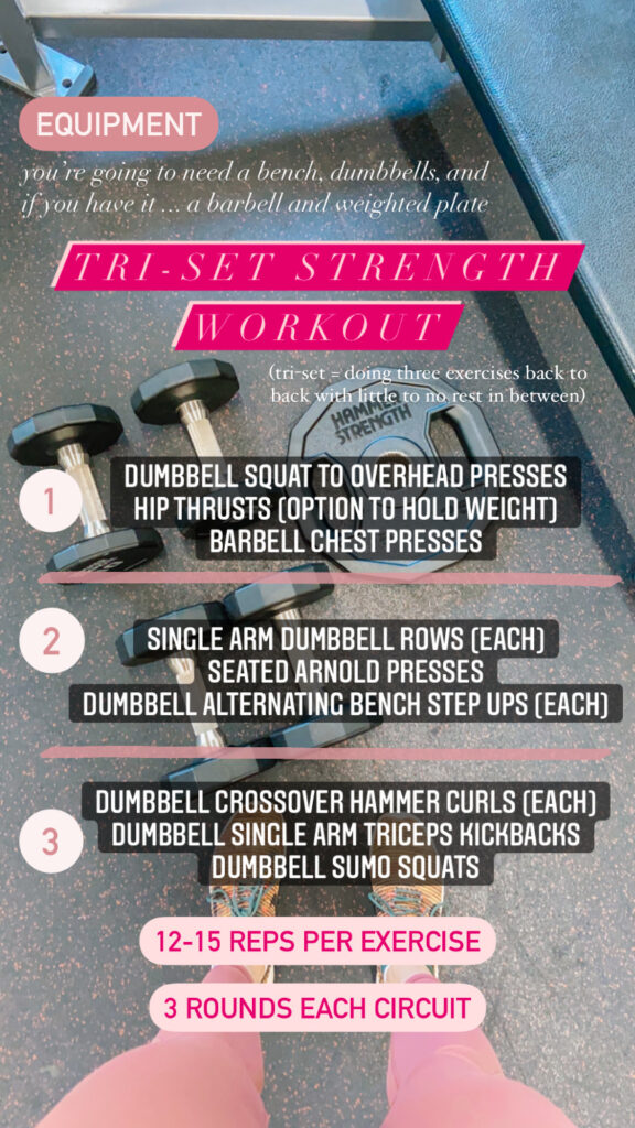 Tri-set Strength Workout