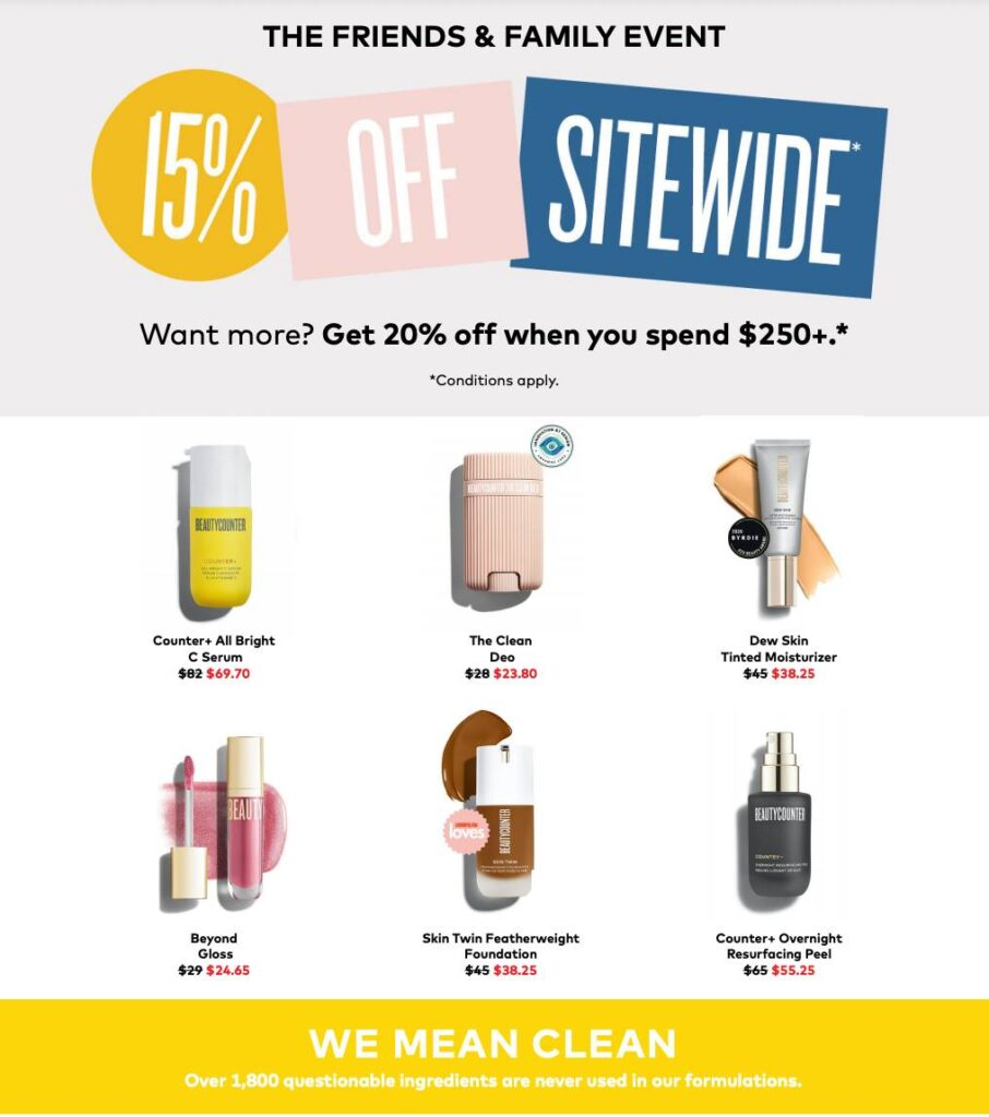beautycounter sale