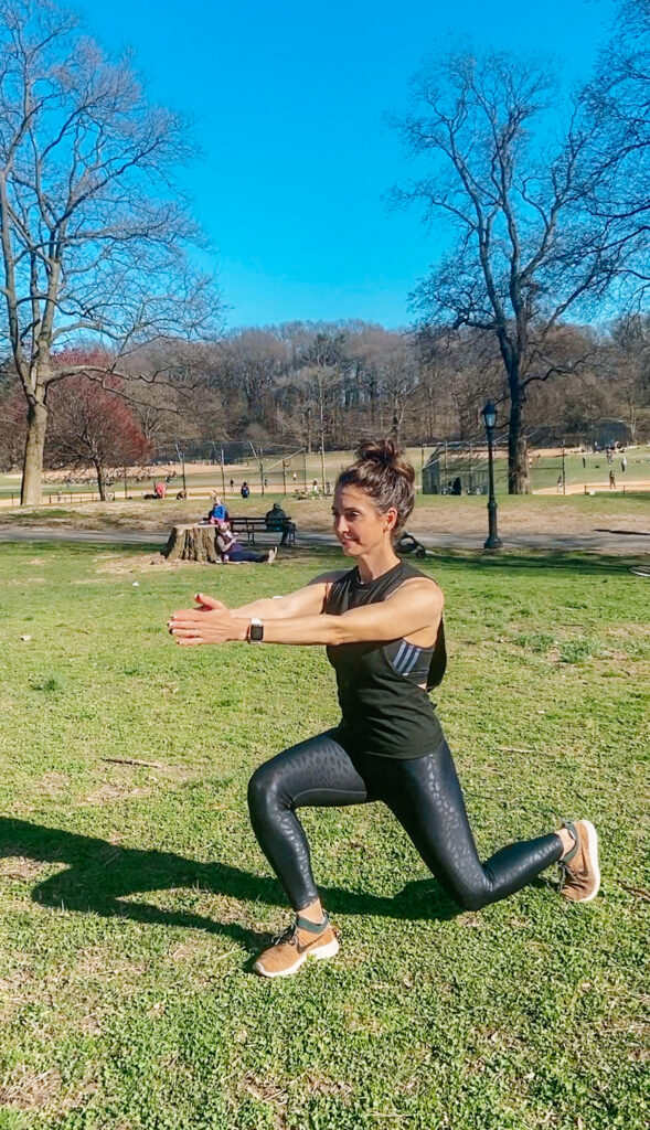 standing lunge with twists