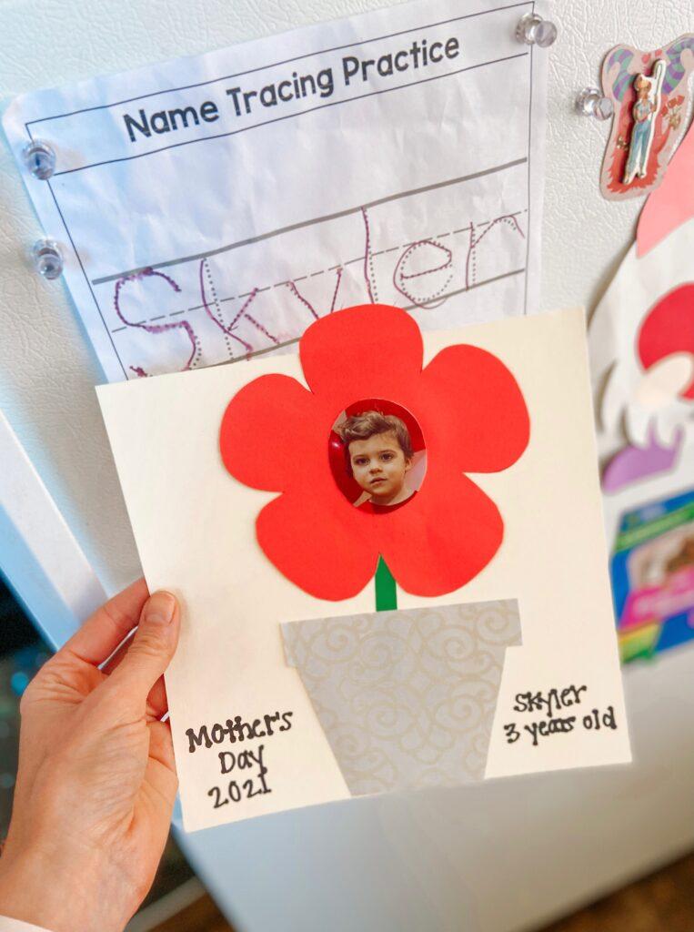 Skyler's Mother's Day craft 2021