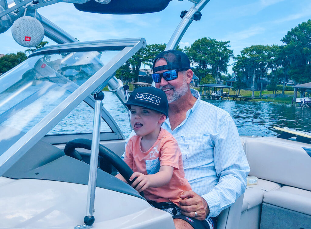 skyler and chris on boat