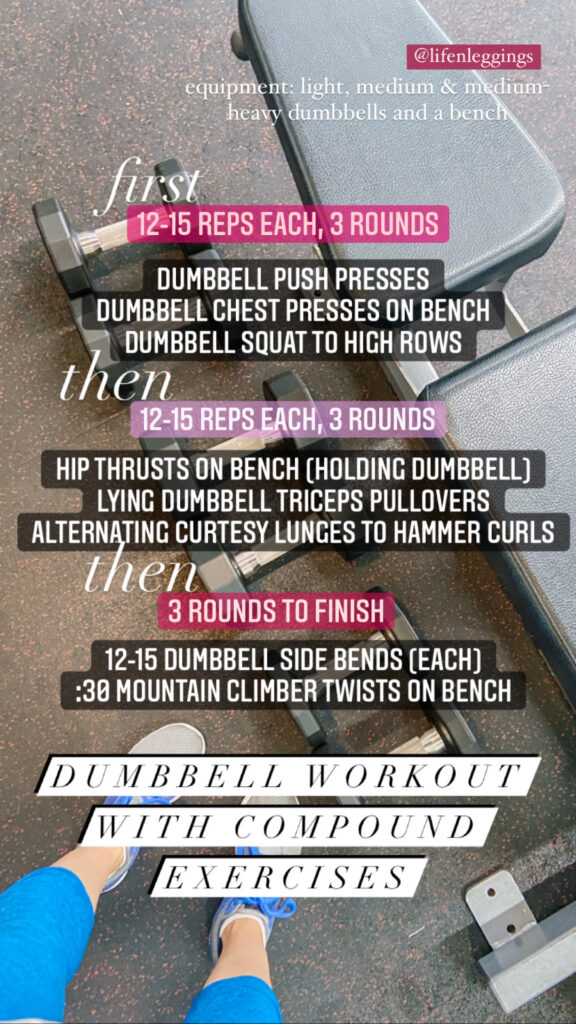 total body workout with compound exercises