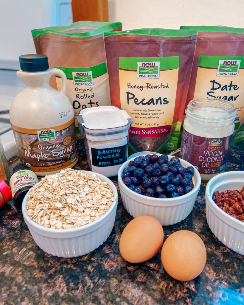 NOW Foods baked oatmeal ingredients