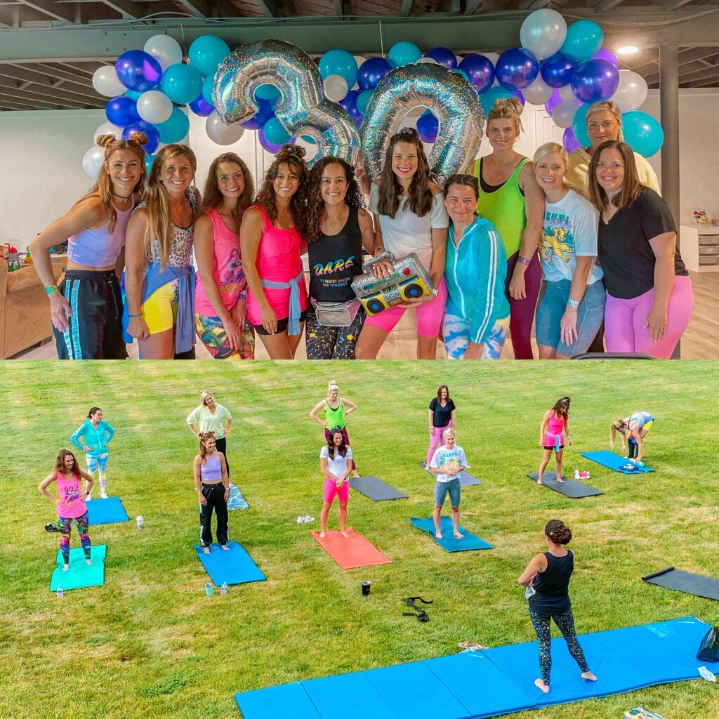 90s yoga birthday
