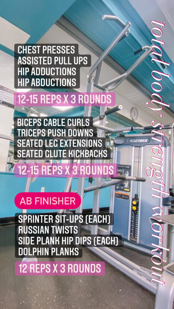 total body strength gym workout