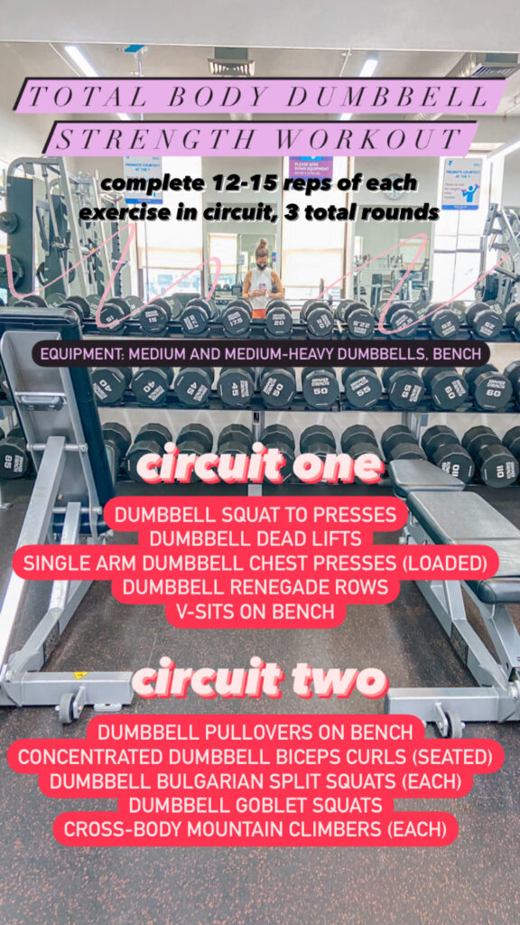 Total Body Dumbbell and Bench Strength Workout