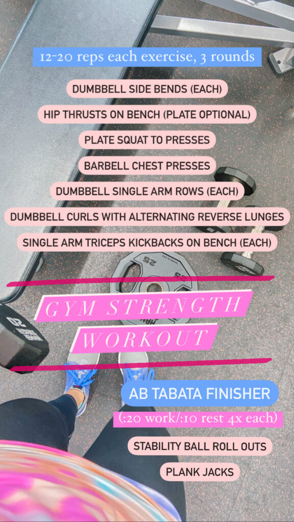 gym strength workout