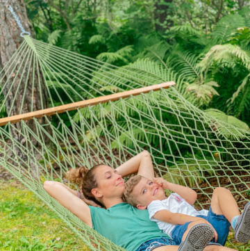 Heather and Skyler grandma's hammock