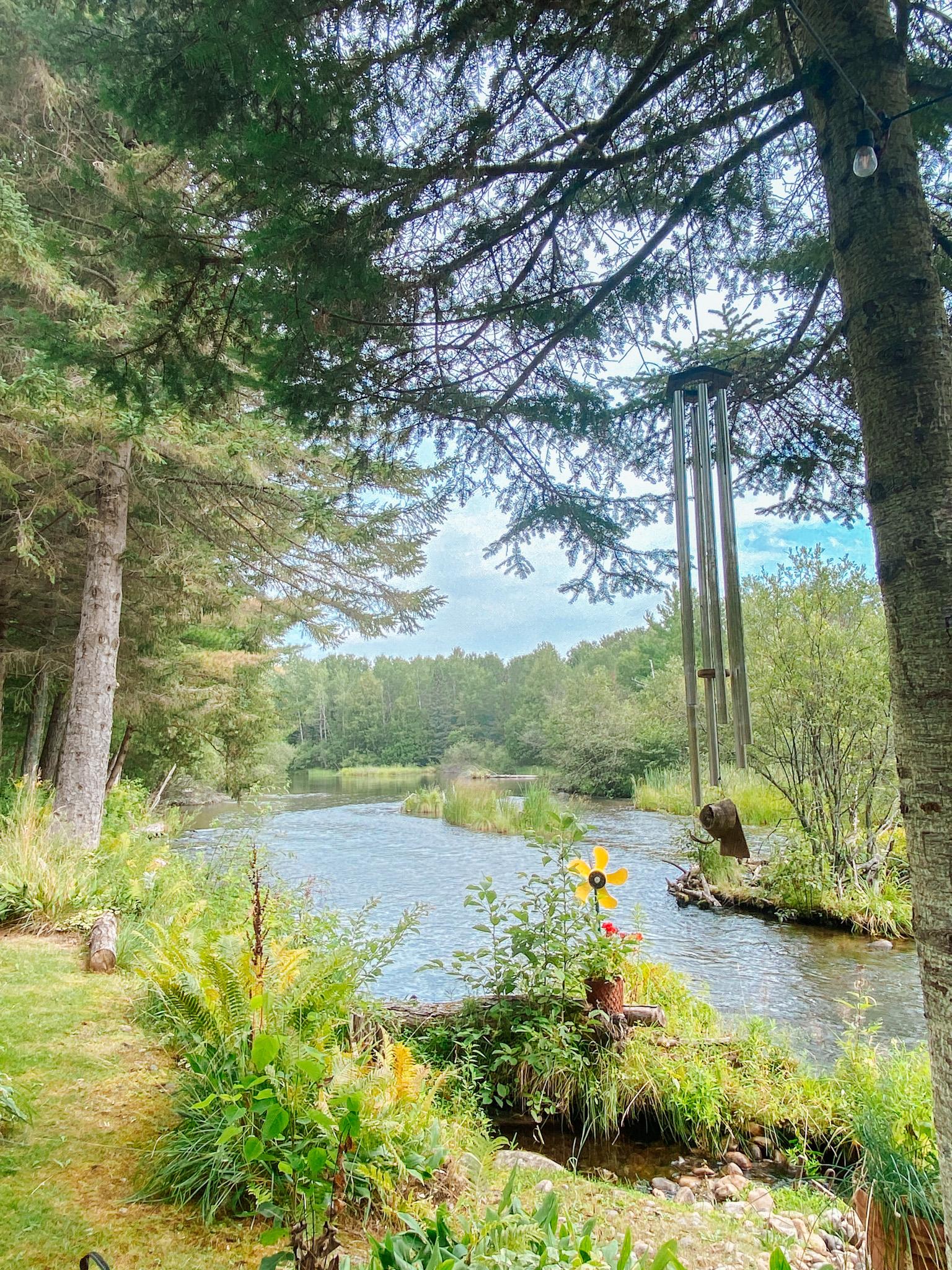 Lovell's cottage on river