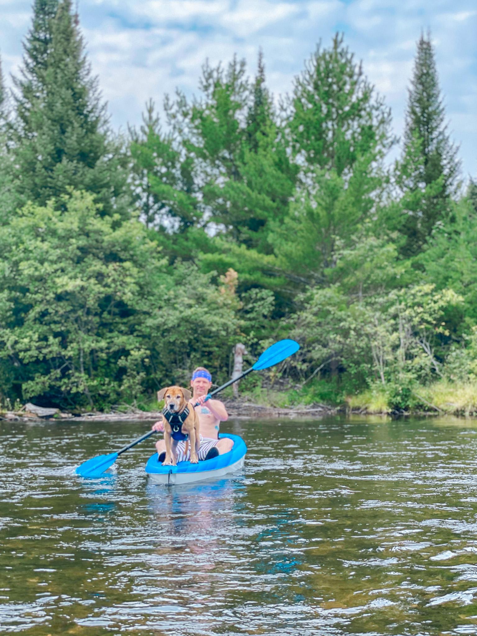 kayaking with roadie